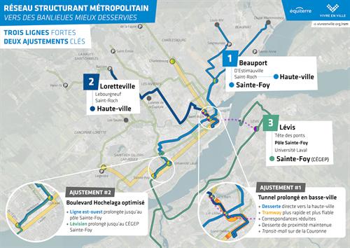 Tramway de Québec: Équiterre et Vivre en Ville appellent à un démarrage rapide du projet et proposent des bonifications structurantes